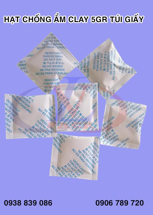 Gói hút ẩm clay 5g túi giấy