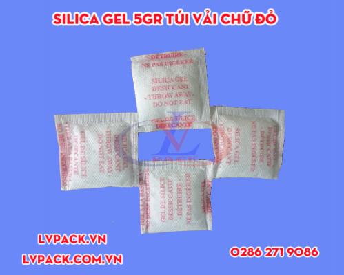 Túi chống ẩm Silica gel túi vải chữ đỏ